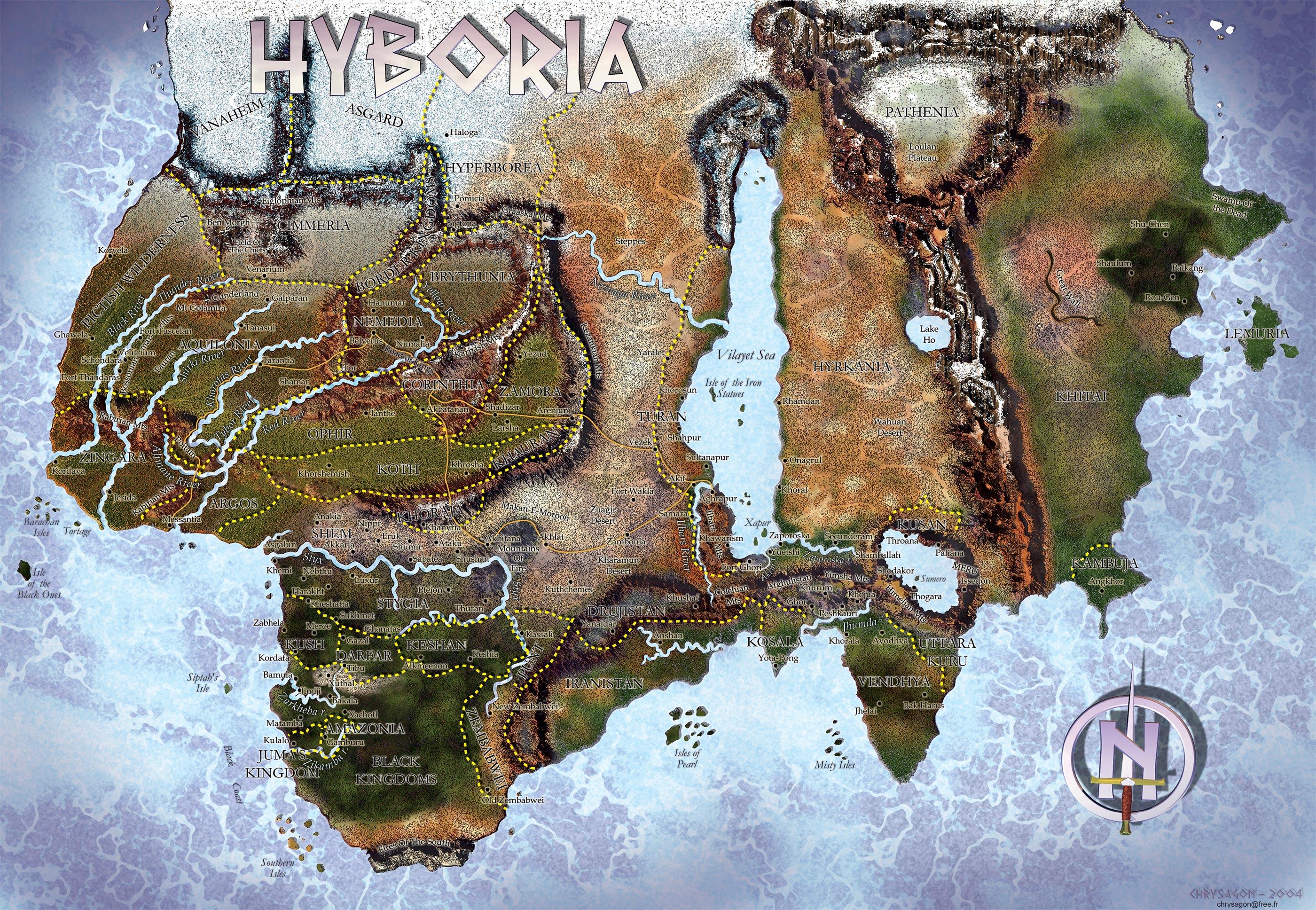 Wikipedia Map of the World World