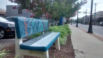 Mosaic Bench with New Seat, 2015
