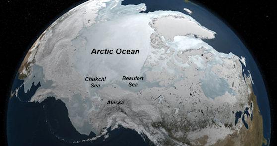 Imagen del Ártico extraída de Ciencia NASA