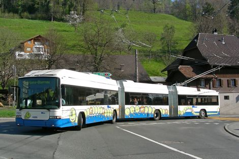 Swiss-built Hess LighTram double-articulated trolleybus