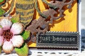 justbecause bee card because close up