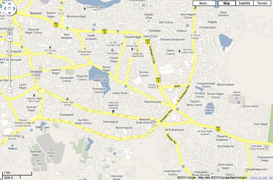 Hyderabad Map > Map of Hyderabad > City Maps | Hyderabad