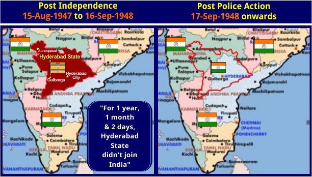 Hyderabad - Pre and Post Police Action