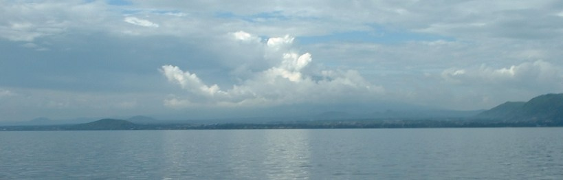 An equatorial lake and a volcano,  a recipe for an energy opportunity or a nightmare