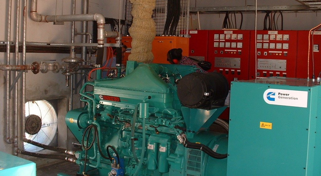 Gas Engine in Vilankulo power plant in 2005