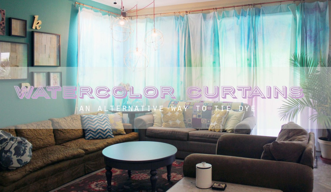Watercolor Curtains An Alternative Way To Tie Dye