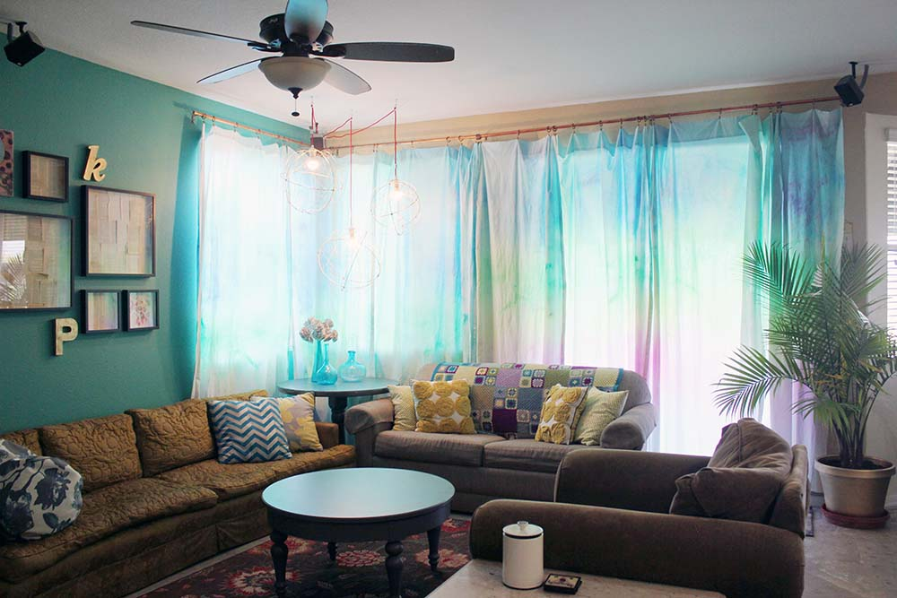 Watercolor Curtains Are Easier Than You Think Check Out This Turotial With Tips On
