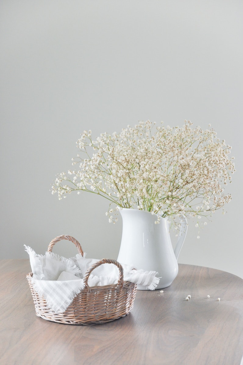 Diy French Country Style Napkin Holder With Thrifted Basket