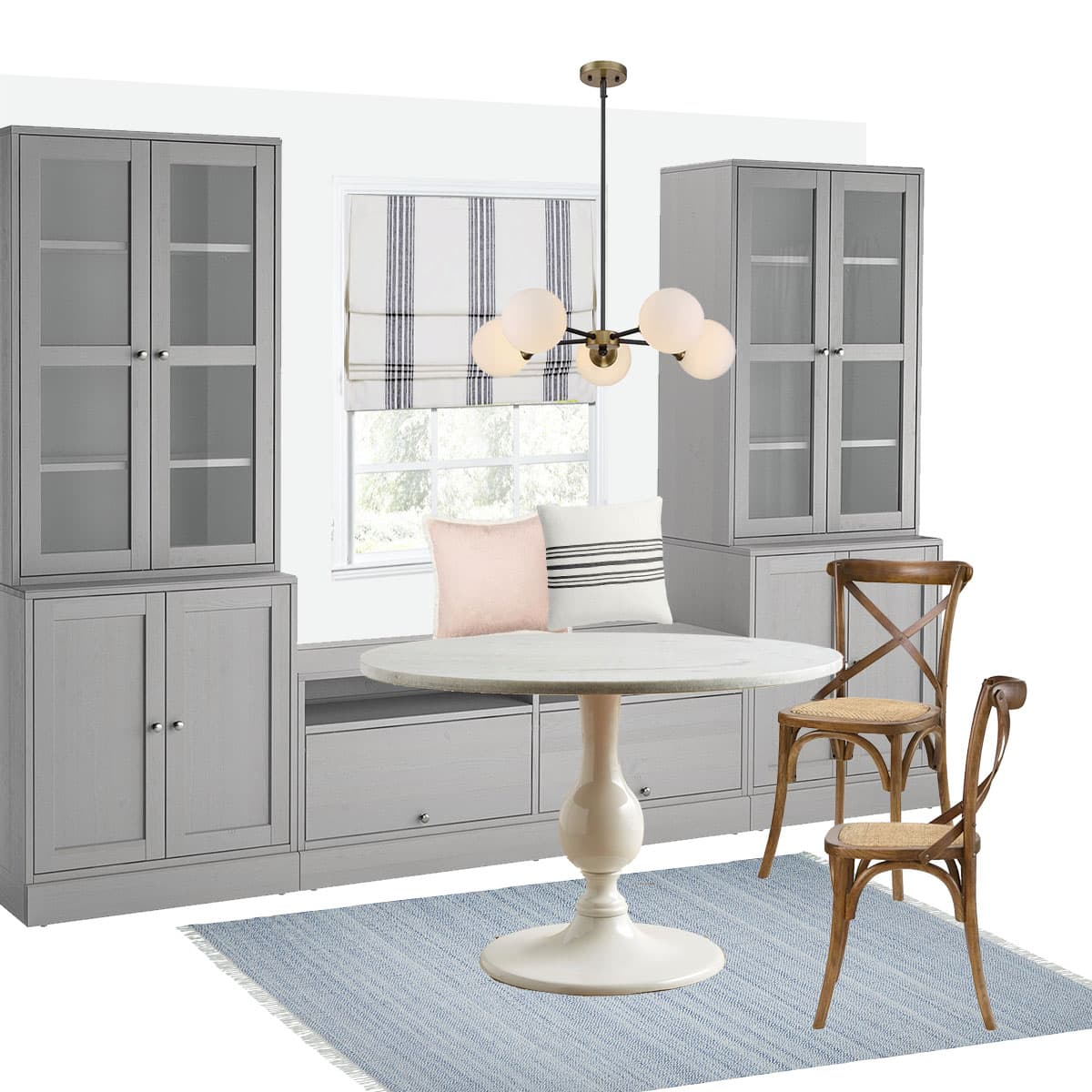 Diy Ikea Banquette Seating Built In Ikea Havsta Hack