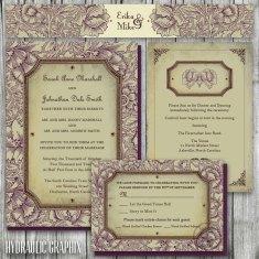 organic wedding invitation set