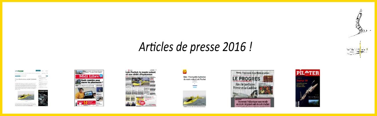 affiche présentation articles de presse 2016