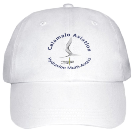casquette calamalo aviation blanche recto