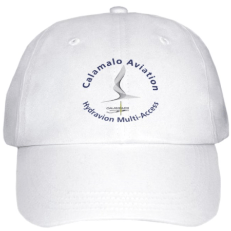 cap calamalo aviation  white front