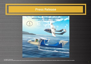 Download the press kit CALAMALO Aviation Fabriquant Hydravion foils Manufacturer Seaplane Seafoils