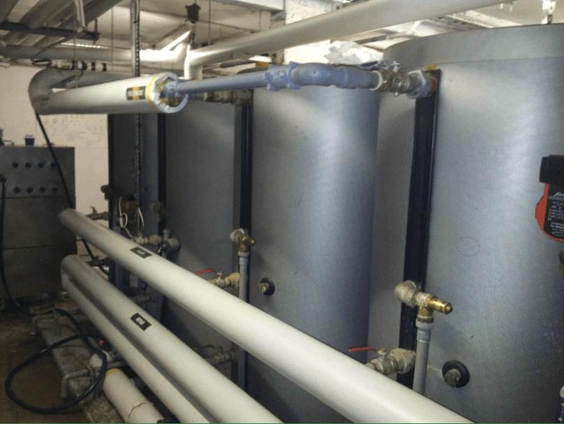 Intervention sur réseau eau Chaude et chauffage Chaufferie immeuble de 150 logements à Villefranche sur Mer