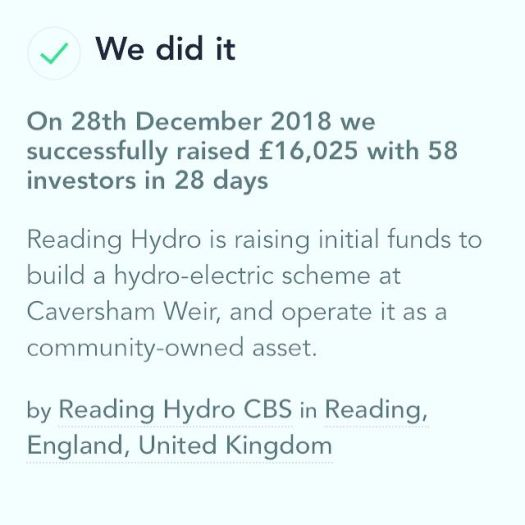We did it Hydro Pioneer Crowdfund