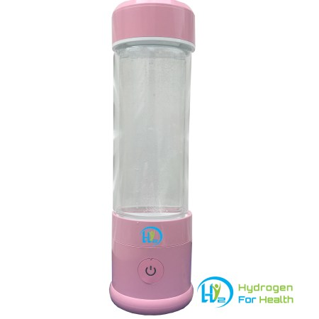Hydrogen water bottle pink