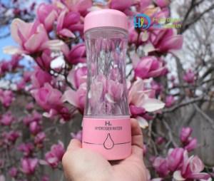 Pink hydrogen water bottle