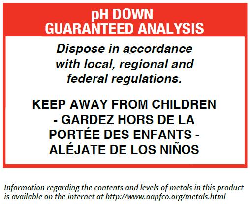 pH Down Guaranteed Analysis
