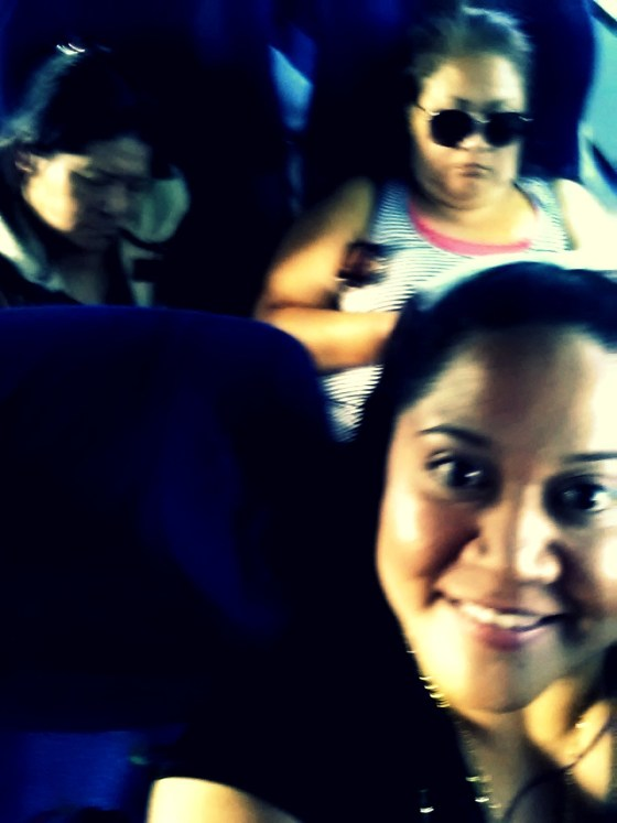 Riding out of Quito with my mom and aunt.