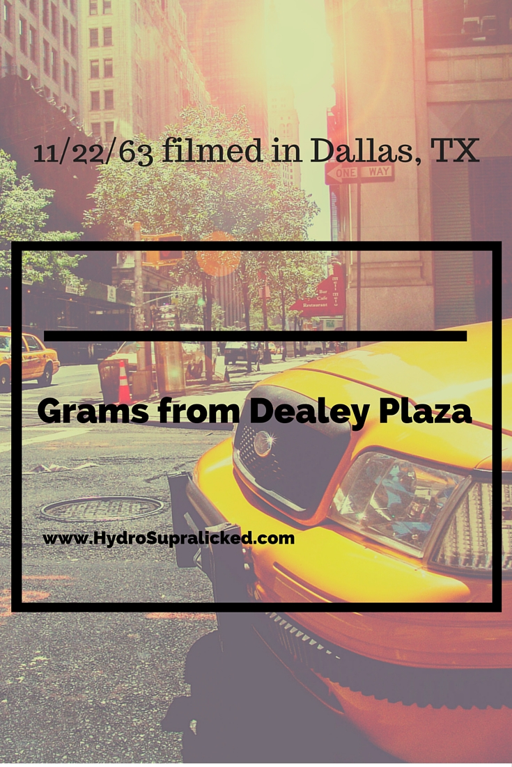 Filming in Dealey Plaza for 11/22/63