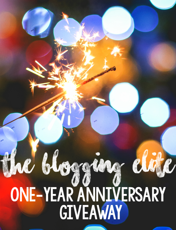 the blogging elite anniversary giveaway