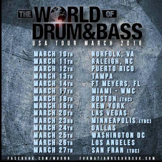 The World of Drum and Bass USA Tour 2016