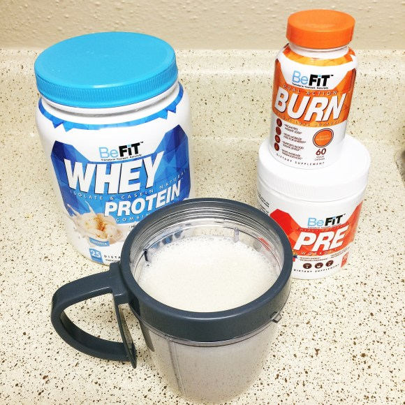befit whey protein burn pre workout
