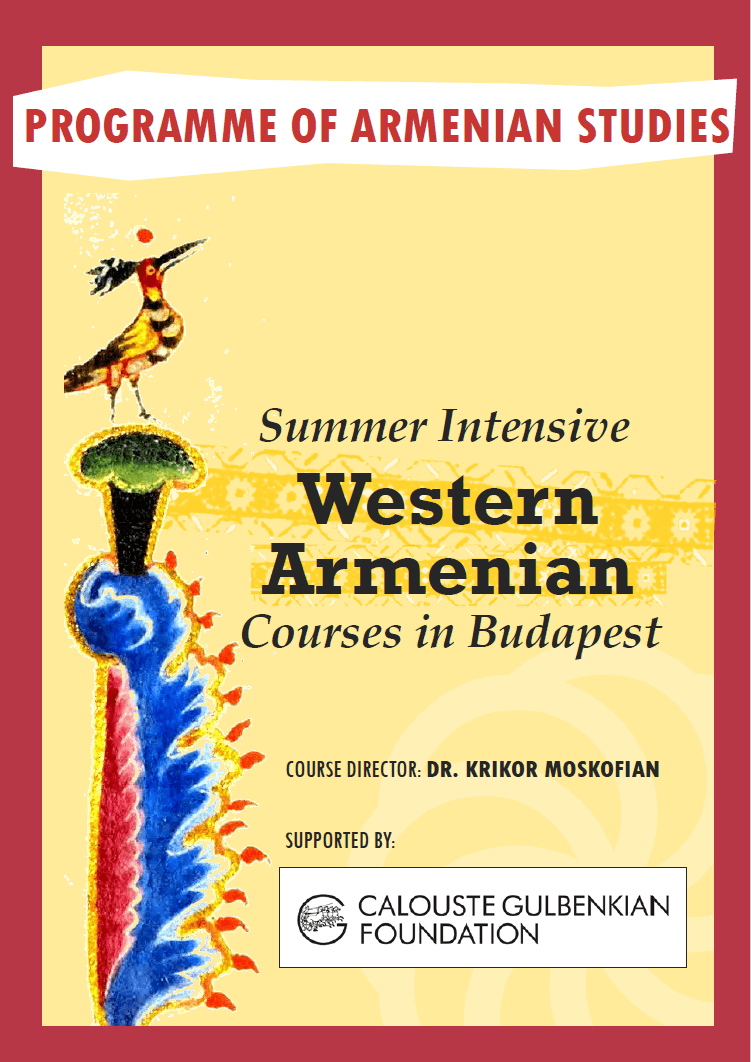 2018 Summer Intensive Courses for Western Armenian in Budapest – HyeTert