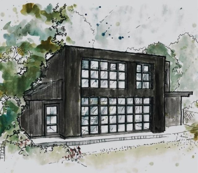 Rear elevation architects drawing