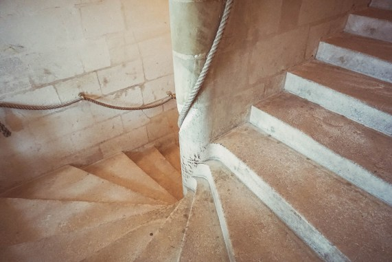 Stairs at Chambord Castle France 13