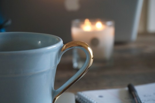 Tea candle notebook hygge