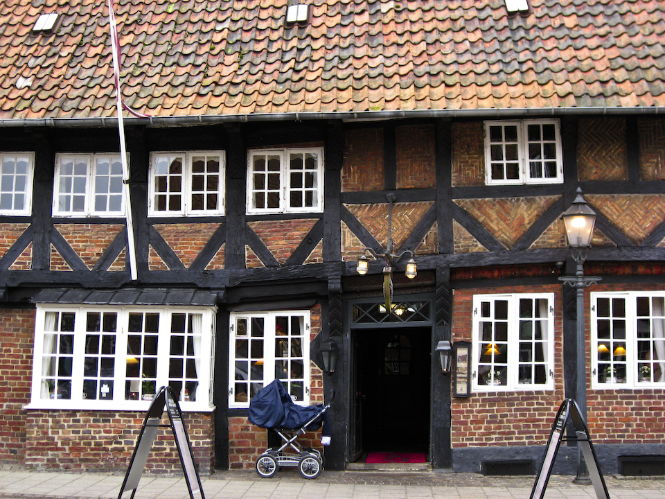 Ribe Denmark with pram outside