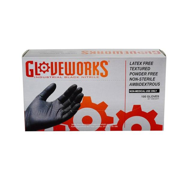 Black Nitrile Disposable Gloves - Industrial Grade