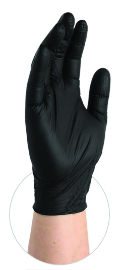 BX3 Black Nitrile Gloves