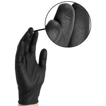 Black Nitrile Gloves - BX3