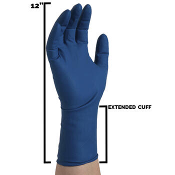 Blue Latex Exam Gloves