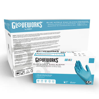 Gloveworks Blue Nitrile Exam Latex Free Disposable Gloves (Case of 500)