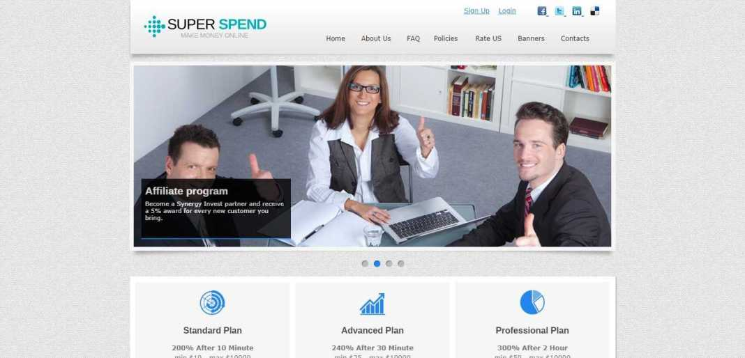 Superspend.club Hyip Review : Profit Earn Up 200% After 10 Minute