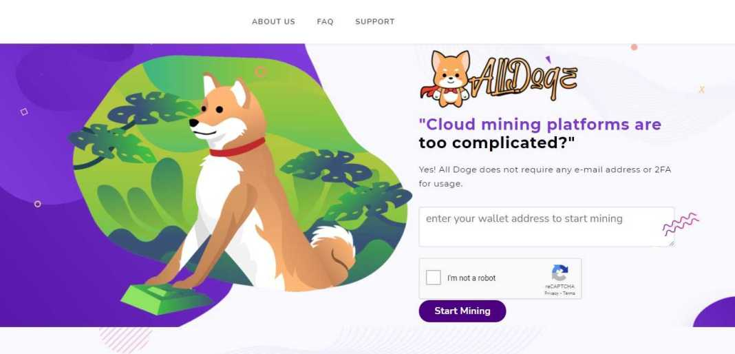 Alldoge.com Hyip Review : All Doge Starts a New Page for the Entire Cloud Mining Industry