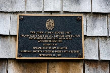 Plaque on John Alden House, Duxbury, Massachusetts (photo credit: ronaldc)