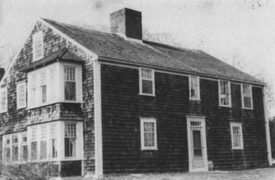 """An old photo of the """"Betty Alden House"""" in Little Compton, Rhode island"""