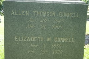 Allen Thomson Gunnell (1848-1907), my 2nd paternal g-grandfather