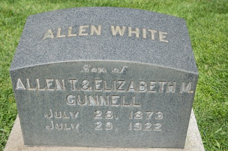 Allen White Gunnell (1877-1922), my g-grand uncle