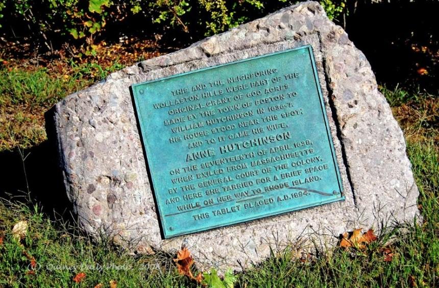 Anne Hutchinson Memorial, Quincy, Massachusetts