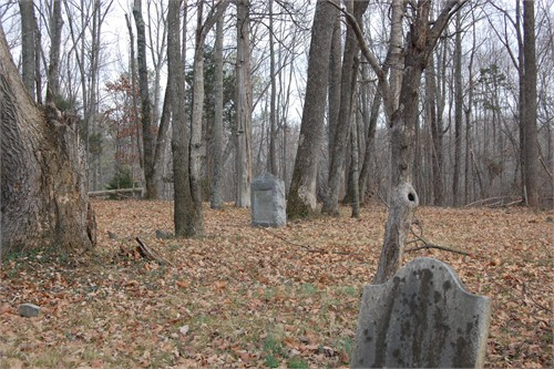Another view of the Cedar Hill burial ground