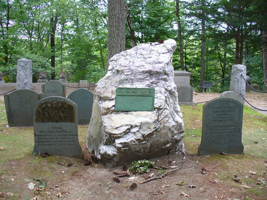 Emerson's grave in Sleepy Hollow Cemetery (Concord, Massachusetts)