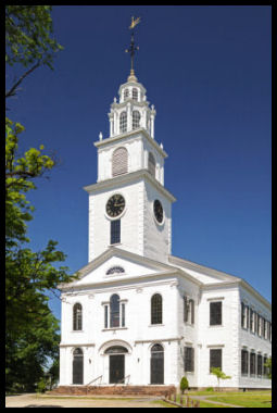 First Church in Roxbury (now a Unitarian Universalist congregation) - Churches have stood on this site continuously since 1632. The church building seen today, built in 1804, is the fifth.