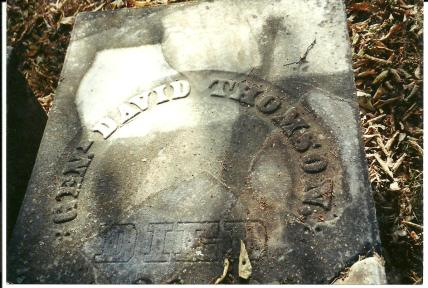 Gen. David Thomson grave marker (Thomson Cemetery, Georgetown, Pettis County, Missouri)