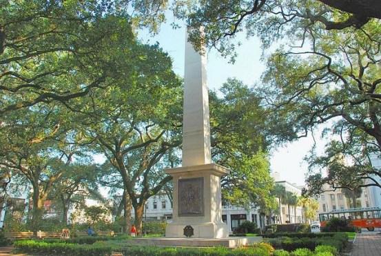 Greene Monument in Johnson Square, Savannah, Georgia